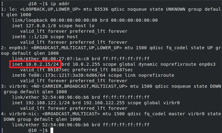 Assigned IP address