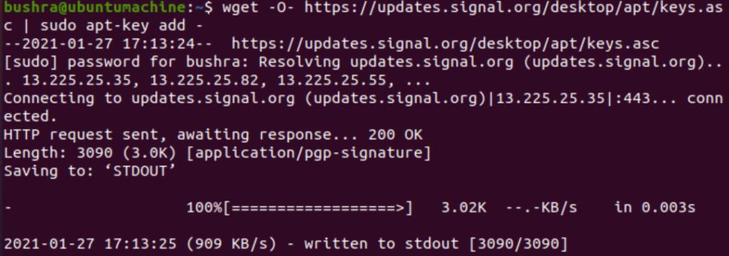 Downloading GPG-key