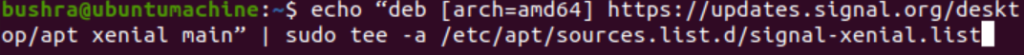Add Signal Ubuntu repository