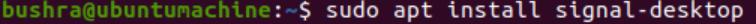 Install signal-desktop