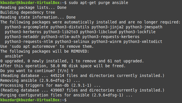 Removing Ansible