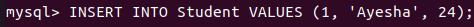 MySQL insert statement