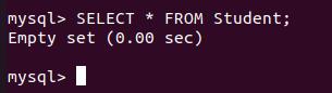 Database is empty