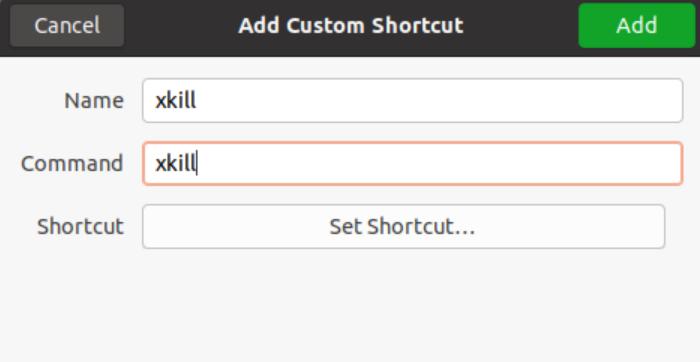 Xkill shortcut