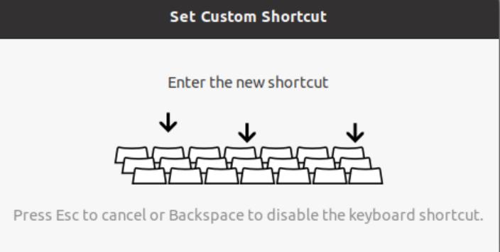 Choose key combination