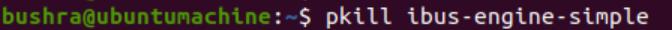Use pkill command