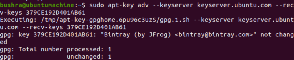 Added the key