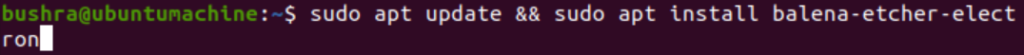 Installing Etcher Ubuntu package