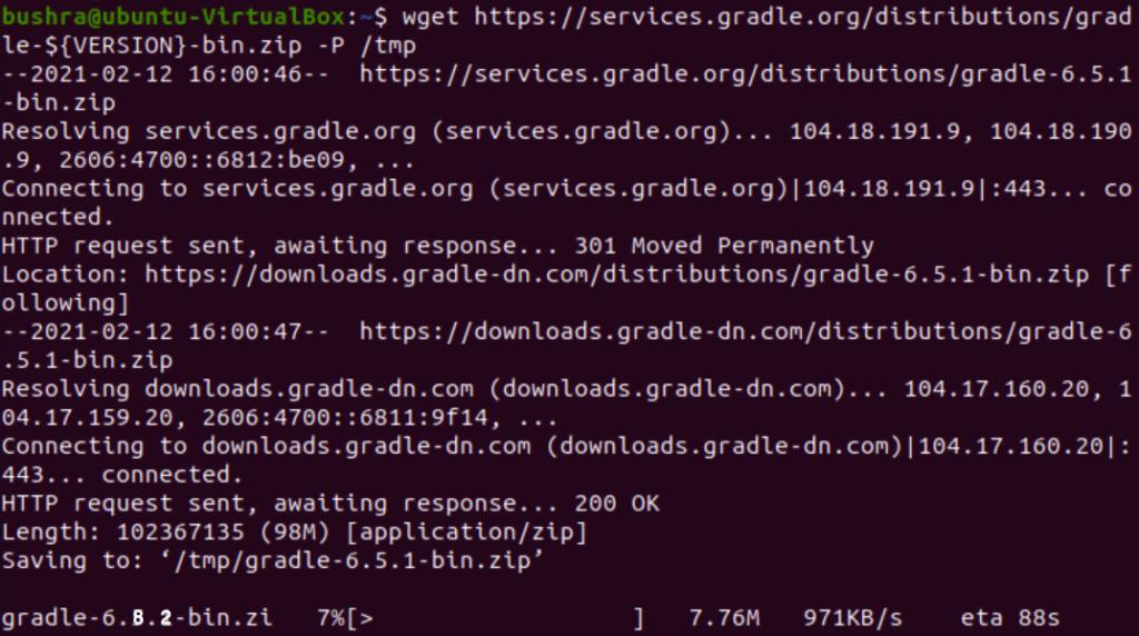 Downloading Gradle source