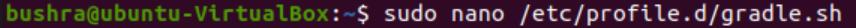 Create Gradle shell script