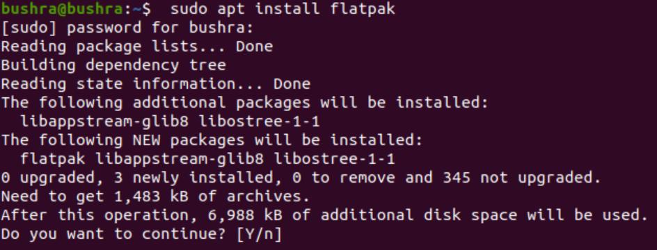 Flatpak installation