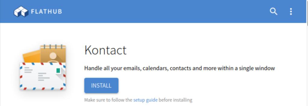 Install Kontact via Flathub