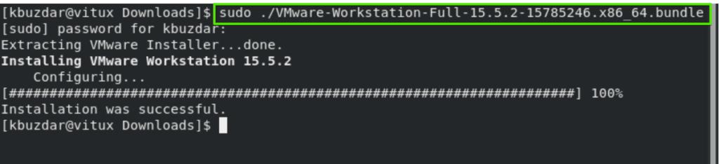 Run VMware installer
