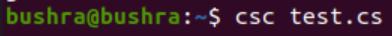 Compile Mono application