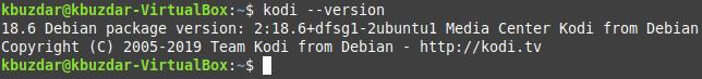 Kodi installed on Linux Mint