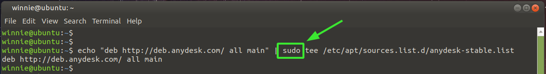 sudo tee command