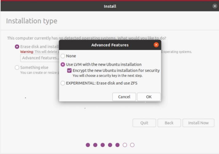 Encrypt harddisk