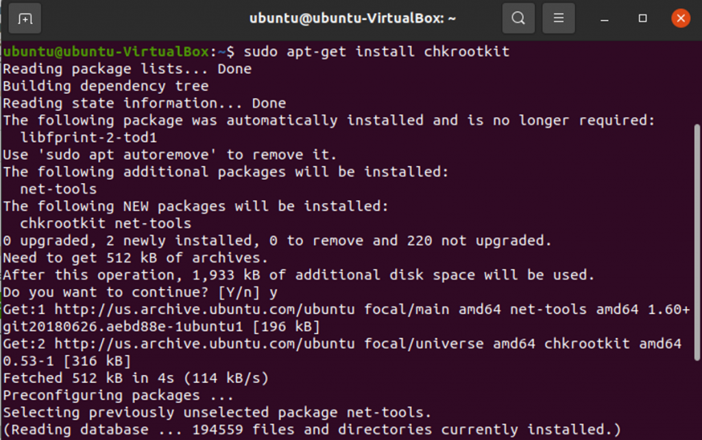 Check for rootkits