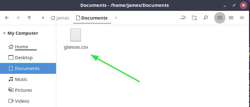 Glances CSV file