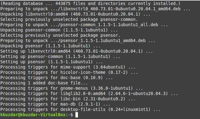 Dependencies get installed