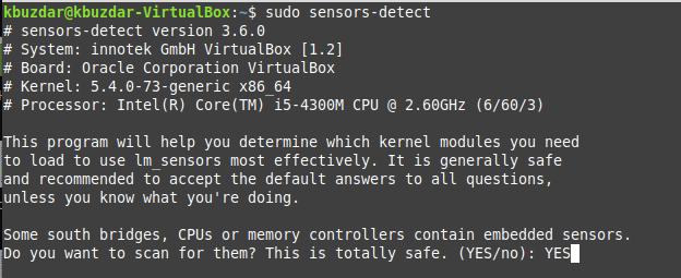 Scan for sensors