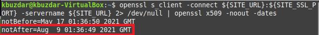 SSL cert valid until