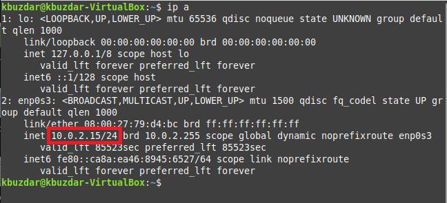 System IP address