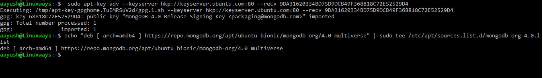 Add Mongodb repository key