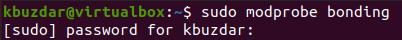 Install bonding kernel module