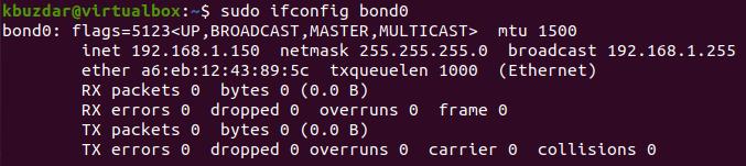 Show bond0 config