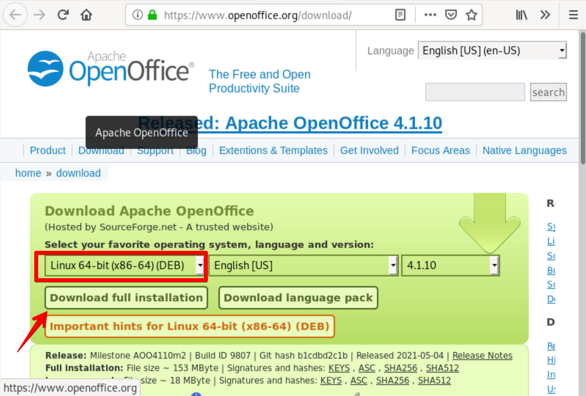 Download OpenOffice