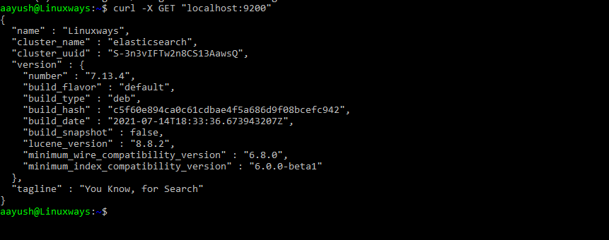 Test Elasticsearch
