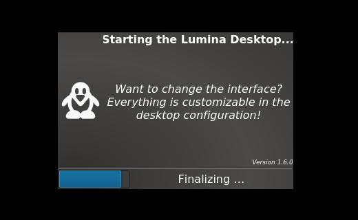 Starting Lumina Desktop
