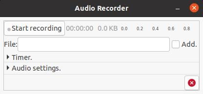 Linux Audio Recorder