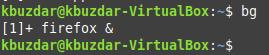 Send running process to background using bg command