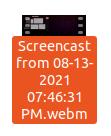 Saved screencast
