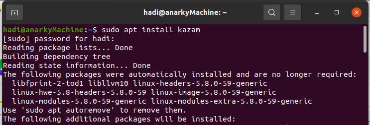 Install Kazam screencast tool