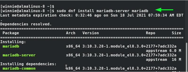 Install MariaDB