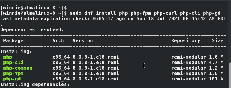 Install PHP-FPM