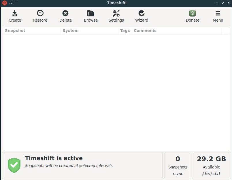 TimeShift Backup