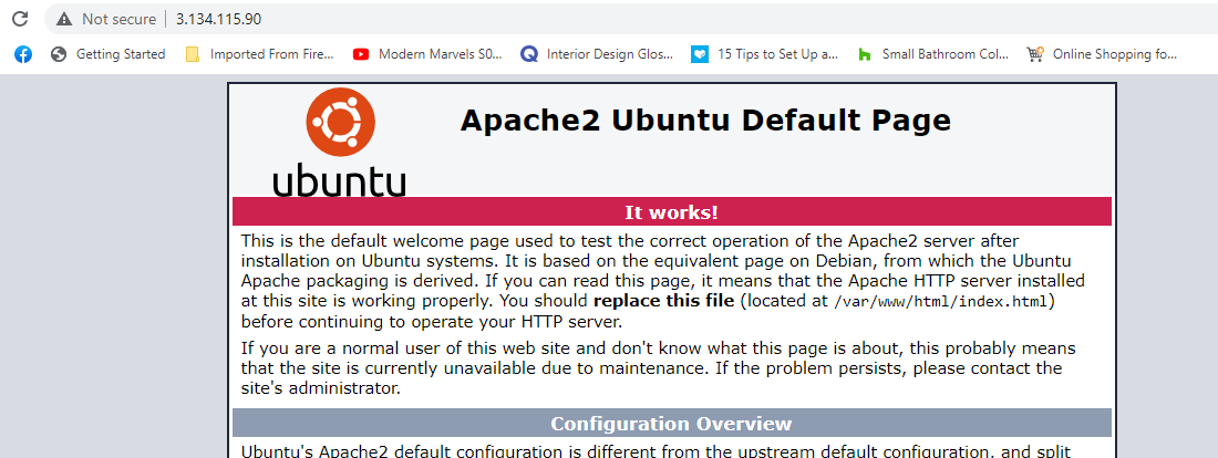 Page cached via varnish