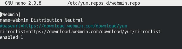 webmin.repo file