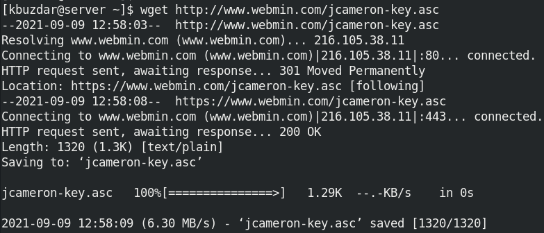 Download the repository key