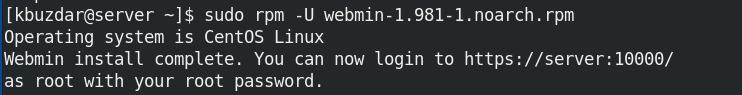 Webmin RPM