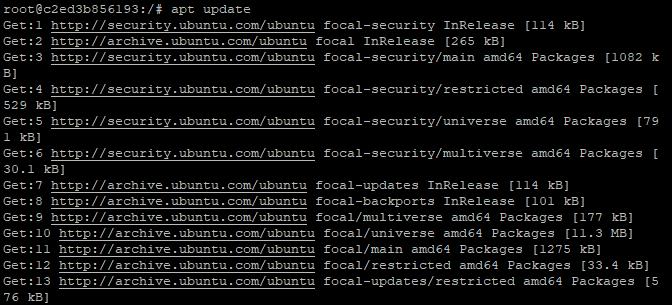Update Docker image
