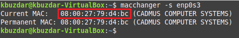 Current MAC and permanent MAC