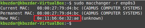 New MAC address
