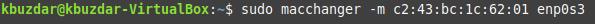 Change MAC address manually