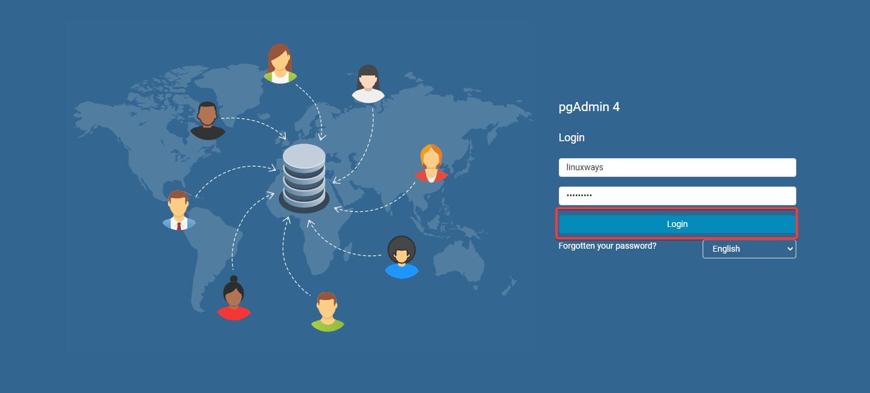 pgAdmin 4 web UI