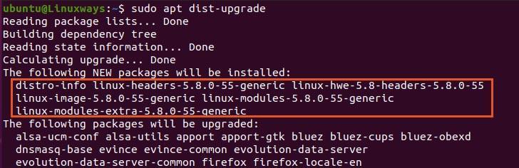 Dist upgrade